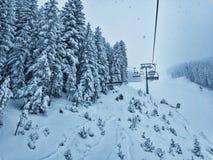 Χιονοδρομικό κέντρο του Μπάνσκο στοκ εικόνες