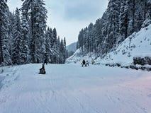 Χιονοδρομικό κέντρο του Μπάνσκο στοκ φωτογραφίες
