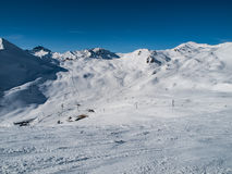 Χιονοδρομικό κέντρο χώρων Silvretta Στοκ Φωτογραφία