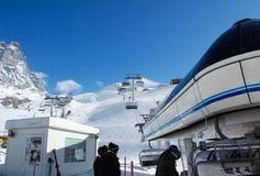 Χιονοδρομικό κέντρο Στοκ Εικόνα