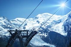 Χιονοδρομικό κέντρο Chamonix Στοκ Εικόνα