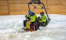 Χιονοδρομικό κέντρο Chimbulak Στοκ φωτογραφίες με δικαίωμα ελεύθερης χρήσης