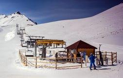 Χιονοδρομικό κέντρο Chimbulak Στοκ φωτογραφία με δικαίωμα ελεύθερης χρήσης