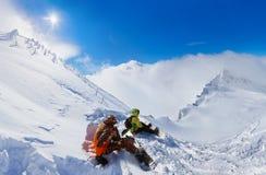 Χιονοδρομικό κέντρο Kaprun Αυστρία βουνών Στοκ φωτογραφίες με δικαίωμα ελεύθερης χρήσης