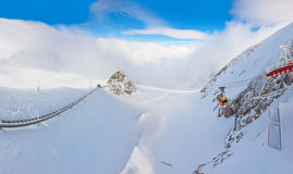 Χιονοδρομικό κέντρο Kaprun Αυστρία βουνών Στοκ φωτογραφία με δικαίωμα ελεύθερης χρήσης