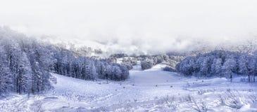 Χιονοδρομικό κέντρο Krasnaya Polyana SOCHI Στοκ φωτογραφία με δικαίωμα ελεύθερης χρήσης