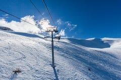 Χιονοδρομικό κέντρο Les Orres, Hautes Alpes, Γαλλία Στοκ εικόνες με δικαίωμα ελεύθερης χρήσης