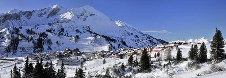 Χιονοδρομικό κέντρο Obertauern στοκ εικόνα