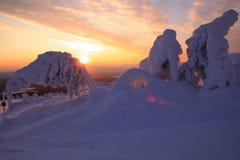 Χιονοδρομικό κέντρο Pyhätunturi Στοκ φωτογραφία με δικαίωμα ελεύθερης χρήσης