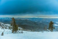 Χιονοδρομικό κέντρο Sheregesh, περιοχή Tashtagol, Kemerovo Στοκ εικόνα με δικαίωμα ελεύθερης χρήσης