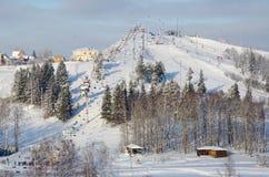 Χιονοδρομικό κέντρο Sorochany, περιοχή της Μόσχας, της Ρωσίας Στοκ Εικόνες