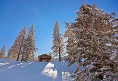 Χιονοδρομικό κέντρο ST Gilgen Αυστρία βουνών Στοκ εικόνα με δικαίωμα ελεύθερης χρήσης