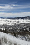 Χιονοδρομικό κέντρο Steamboat Springs Στοκ εικόνες με δικαίωμα ελεύθερης χρήσης