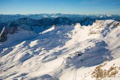 Χιονοδρομικό κέντρο Zugspitze Στοκ εικόνα με δικαίωμα ελεύθερης χρήσης