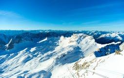 Χιονοδρομικό κέντρο Zugspitze Στοκ φωτογραφία με δικαίωμα ελεύθερης χρήσης