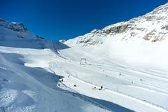 Χιονοδρομικό κέντρο Zugspitze Στοκ Εικόνες