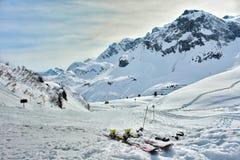 Χιονοδρομικό κέντρο Zurs Lech, Arlberg, Τύρολο, Αυστρία Στοκ Φωτογραφίες