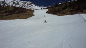 Χιονώδεις αιχμές στο χιονοδρομικό κέντρο serfaus-Fiss-Ladis australites φιλμ μικρού μήκους