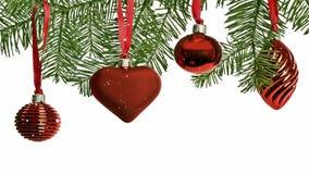 Χιονώδεις διακοσμήσεις Χριστουγέννων διανυσματική απεικόνιση