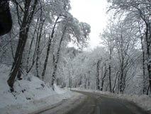 Χιονώδεις δρόμοι στοκ φωτογραφία