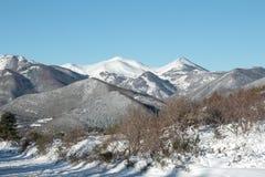 Χιονώδες βουνό στα Πυρηναία Στοκ Εικόνα