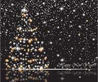 χιονώδες δέντρο Χριστου&g Χαρούμενα Χριστούγεννα καρτών δώρων, νέοι έτος και καλές διακοπές εορτασμοί ελεύθερη απεικόνιση δικαιώματος