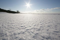 χιονώδες λευκό θάλασσα& Στοκ Εικόνες