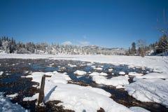 χιονώδες ύδωρ πεδίων Στοκ φωτογραφία με δικαίωμα ελεύθερης χρήσης