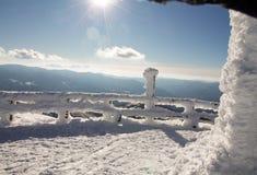 Χιονώδες andscape στην κορυφή των από τη Λιγουρία βουνών Στοκ φωτογραφία με δικαίωμα ελεύθερης χρήσης