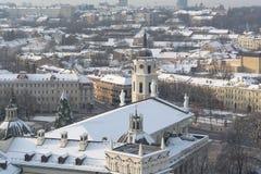 Χιονώδες Vilnius στοκ φωτογραφία