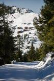 Χιονώδης άποψη του οροπέδιου άλατος σε Rize, Τουρκία Στοκ φωτογραφία με δικαίωμα ελεύθερης χρήσης