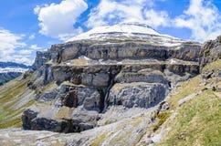 Χιονώδης αιχμή στην κοιλάδα Ordesa, Αραγονία, Ισπανία Στοκ φωτογραφία με δικαίωμα ελεύθερης χρήσης