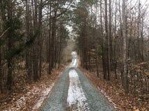 Χιονώδης δρόμος βράχου στοκ εικόνες