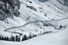 Χιονώδης δρόμος Στοκ Εικόνα