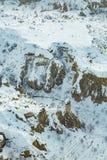 Χιονώδης εναέρια άποψη Cappadocia στοκ φωτογραφίες