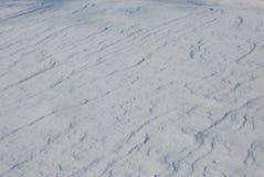χιονώδης επιφάνεια Στοκ Φωτογραφία