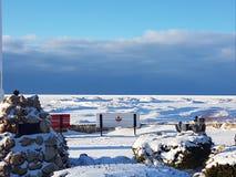 Χιονώδης παραλία στοκ φωτογραφίες