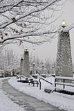 χιονώδης περίπατος του Βανκούβερ Στοκ εικόνα με δικαίωμα ελεύθερης χρήσης