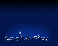 χιονώδης πόλη διανυσματική απεικόνιση