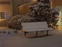 Χιονώδης στηργμένος θέση στοκ φωτογραφίες