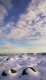 χιονώδης χέρσα περιοχή Στοκ Φωτογραφία