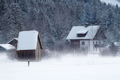 χιονώδης χειμώνας βουνών τ Στοκ Εικόνες