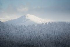 χιονώδης χειμώνας λόφων Στοκ φωτογραφία με δικαίωμα ελεύθερης χρήσης