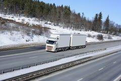 χιονώδης χειμώνας μεταφο Στοκ Εικόνες