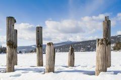 χιονώδης χειμώνας σκηνής Στοκ εικόνα με δικαίωμα ελεύθερης χρήσης
