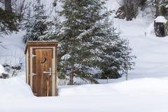 χιονώδης χειμώνας σκηνής Στοκ Φωτογραφίες