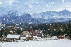Χιονώδης χειμώνας στα βουνά Tatra Στοκ φωτογραφία με δικαίωμα ελεύθερης χρήσης
