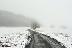 χιονώδης χειμώνας τοπίων Στοκ εικόνες με δικαίωμα ελεύθερης χρήσης