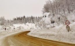 Χιονώδης χειμώνας του 2018 Στοκ Εικόνες