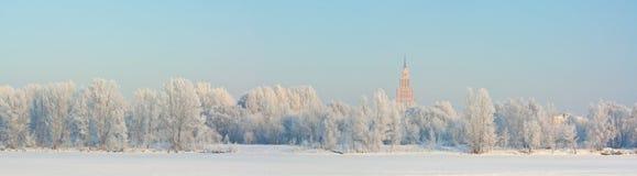 χιονώδης χειμώνας Στοκ εικόνες με δικαίωμα ελεύθερης χρήσης